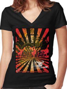 Disc Jockey Women's Fitted V-Neck T-Shirt