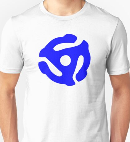Blue 45 Vinyl Record Symbol T-Shirt