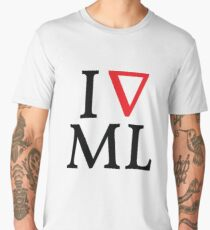 I love machine learning Men's Premium T-Shirt