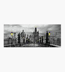 BW Prague Charles Bridge 06 Photographic Print