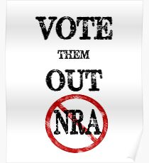 Vote The NRA Out of Our Government Offices Vintage Retro Style Gear Poster