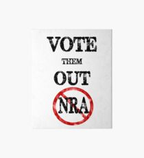 Vote The NRA Out of Our Government Offices Vintage Retro Style Gear Art Board