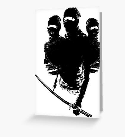 tres ninjas Greeting Card