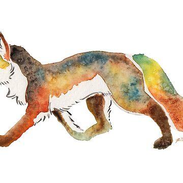 Watercolour Fox by Temrin