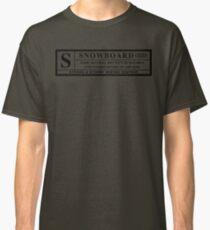 snowboard : warning label Classic T-Shirt