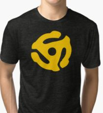 Gold 45 Vinyl Record Symbol Tri-blend T-Shirt