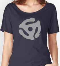 Gray 45 Vinyl Record Symbol Women's Relaxed Fit T-Shirt