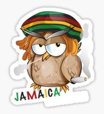 jamaican owl cartoon  Sticker