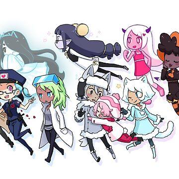 main characters! by nomnomnamiart