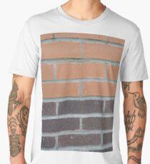 Brickwork, New York, Manhattan, Brooklyn, New York City, architecture, street, building, tree, car,   Men's Premium T-Shirt