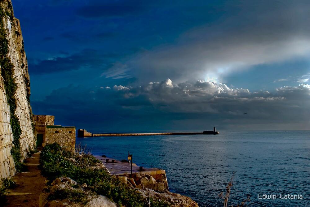 Break Water Valletta by Edwin  Catania