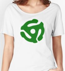 Green 45 Vinyl Record Symbol Women's Relaxed Fit T-Shirt