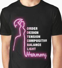 Order. Design. Tension. Composition. Balance. Light. Harmony. Graphic T-Shirt