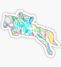 Horse Jumping - Lilly Pulitzer Sea Salt and Sun Sticker