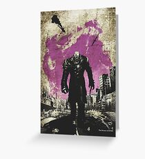 Resi Evil Minimalist Nemesis Art Greeting Card