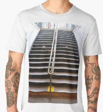 Stairs, New York, Manhattan, Brooklyn, New York City, architecture, street, building, tree, car,   Men's Premium T-Shirt