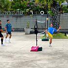 Sepak takraw Game - Bangkok, Thailand by Tiffany Lenoir