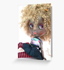 Blythe Blonde Afro Greeting Card