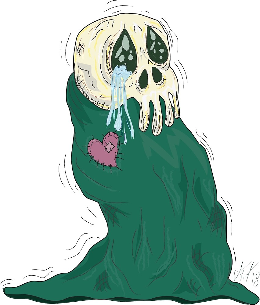 Endearing Skull Monster by GroglioArt