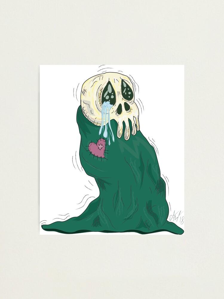 Alternate view of Endearing Skull Monster Photographic Print