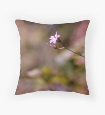 Single proud wildfower Throw Pillow
