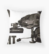 "Tactical Brainbucket ""into the night"" Throw Pillow"