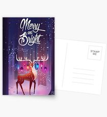 Merry and Bright Postcards