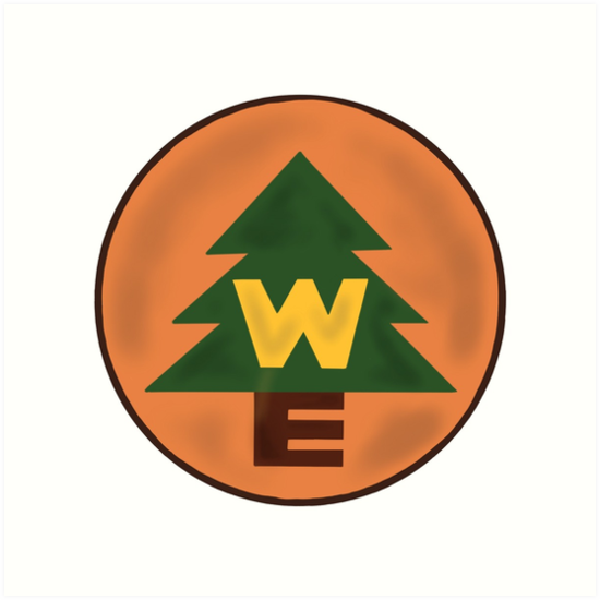wilderness explorer troop badge art prints by delaney sears redbubble
