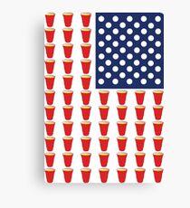 Bier Pong USA Flagge Leinwanddruck