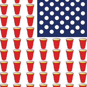 Beer Pong USA Flag by nomadshirts