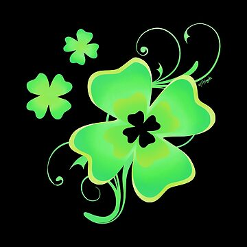 Pretty Irish Four Leaf Clover by ArtVixen