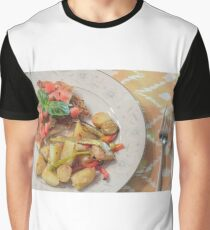 Parmesan Crusted Chicken Breast Graphic T-Shirt