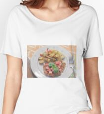 Parmesan Crusted Chicken Breast Women's Relaxed Fit T-Shirt