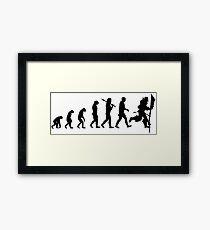 Evolution of Leeroy Framed Print