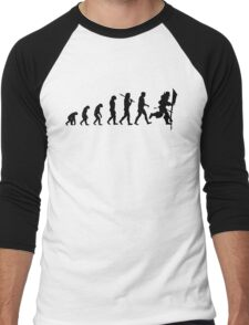 Evolution of Leeroy Men's Baseball ¾ T-Shirt