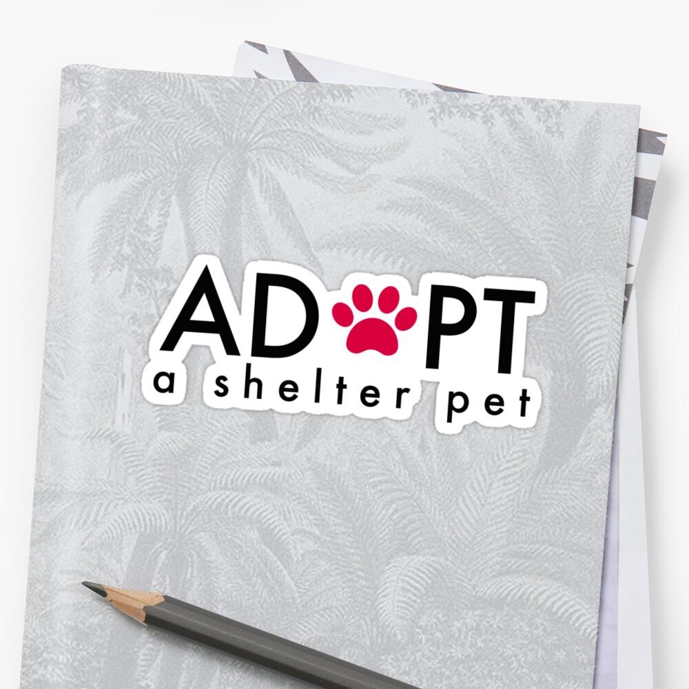 Adoptiere ein Tierheim Sticker