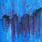 Metropolis in Blue by emilypageart