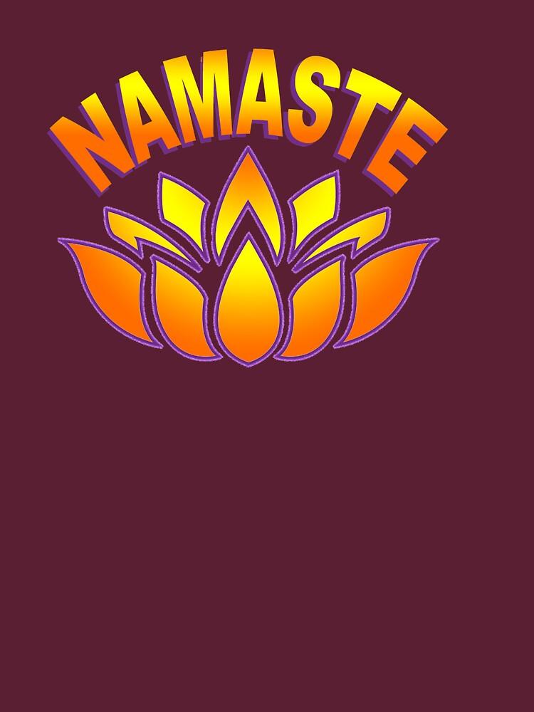Namaste Lotus Flower  by Rightbrainwoman