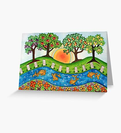 """Sunrise At The Orchard""  Greeting Card"