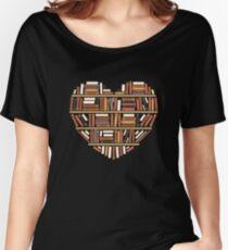 Camiseta ancha para mujer I Heart Books