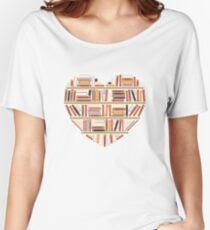 I Heart Books Women's Relaxed Fit T-Shirt