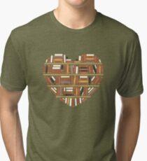 I Heart Books Tri-blend T-Shirt
