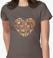 I Heart Books Womens Fitted T-Shirt