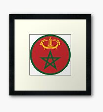 Royal Moroccan Air Force - Roundel Framed Print