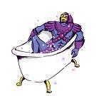 Skeletor in the bath by emiliajesenska