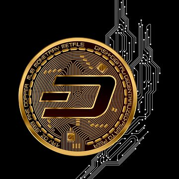Gold DASH Coin by CryptoTextile