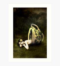 The teacup Art Print