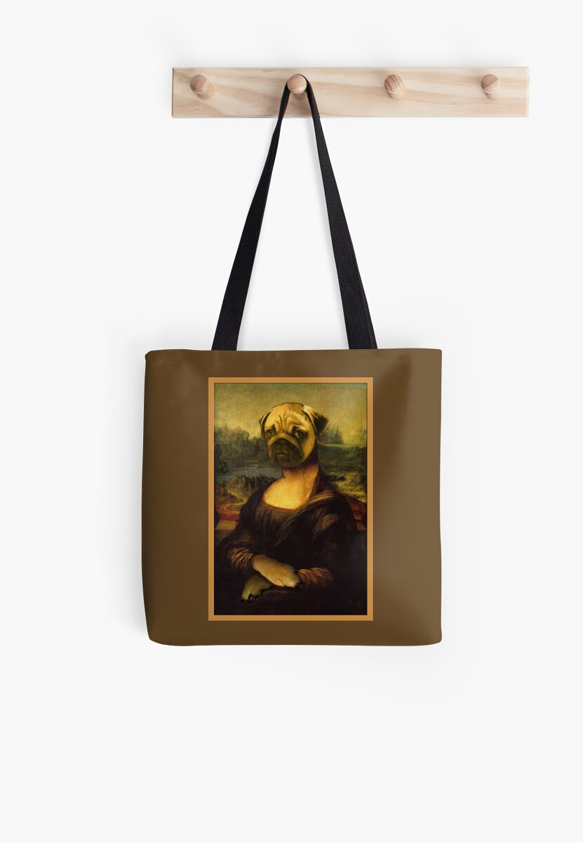 Mona Lisa Pug by DolphinPod