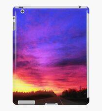 Magenta Sky Drive iPad Case/Skin