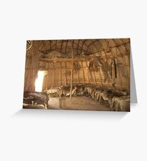 Indian Roundhouse  Greeting Card